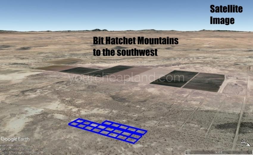 Bit Hatchet Mountains View
