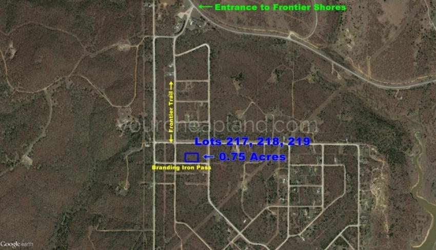 Frontier Shores Lots 217, 218 & 219 Location