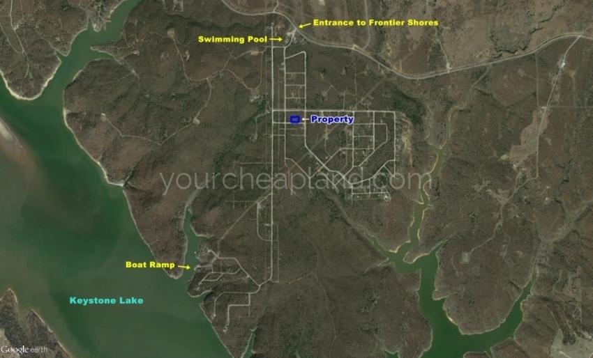 Frontier Shores Lots 217, 218 & 219 Location in Subdivision