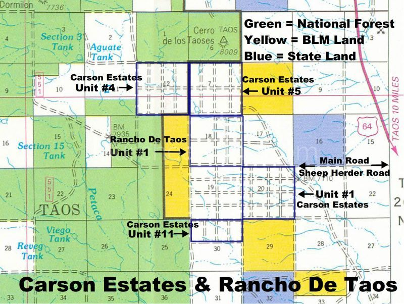 Carson Estates Map with All Units Marked